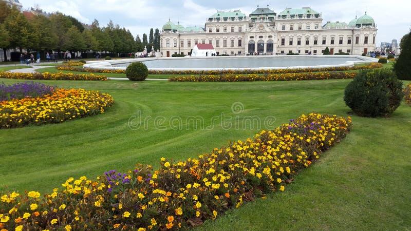 Palazzo di belvedere a Vienna fotografie stock libere da diritti