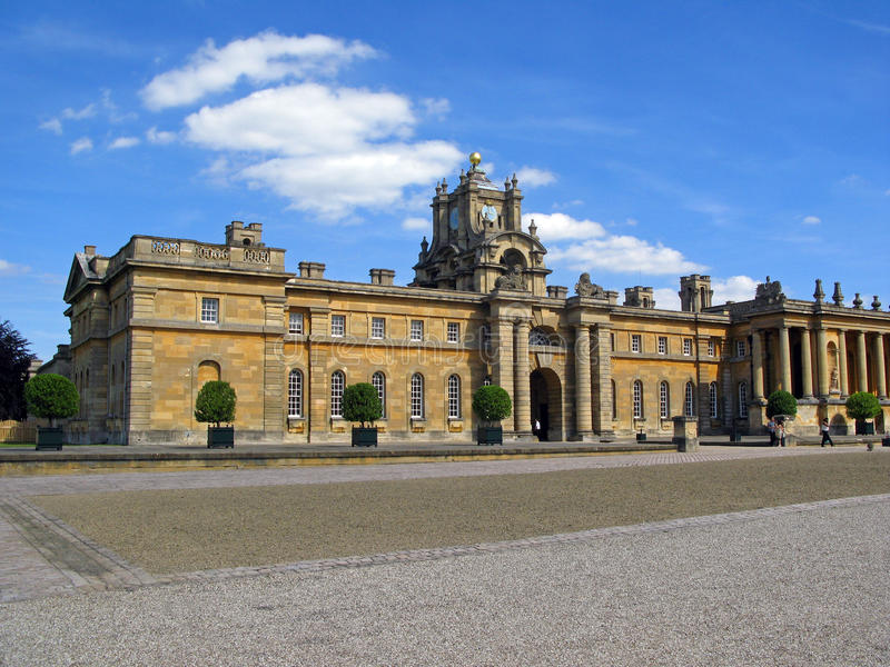 Palazzo di Blenheim - proprietà di Marlborough. fotografia stock