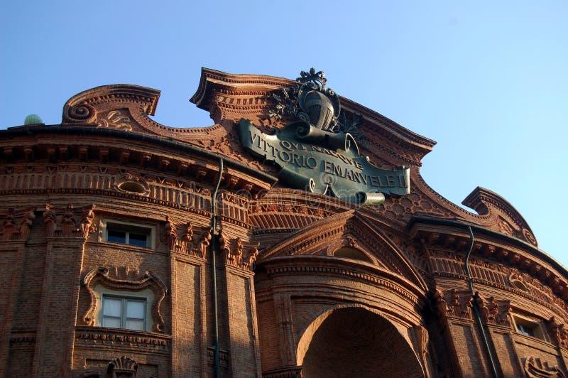 Palazzo di Carignano a Torino immagini stock
