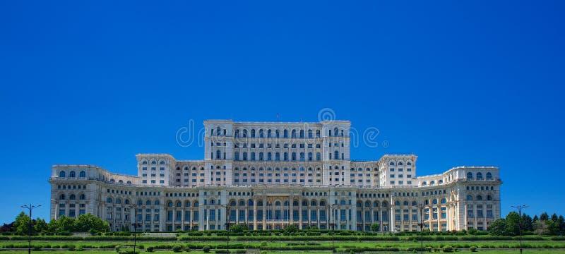 Palazzo di Ceausescu del Parlamento Bucarest Romania Europa fotografia stock libera da diritti