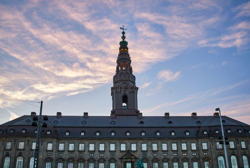 Palazzo di Christiansborg a Copenhaghen, Danimarca immagini stock libere da diritti