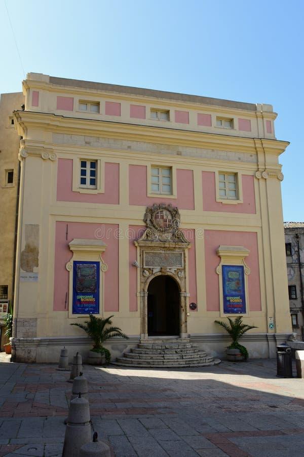 Palazzo Di Citta, Cagliari, Sardinia, Włochy fotografia royalty free
