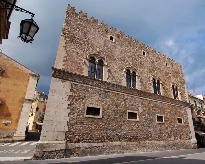 Palazzo di Corvaja in Taormina (Sicilia) fotografia stock