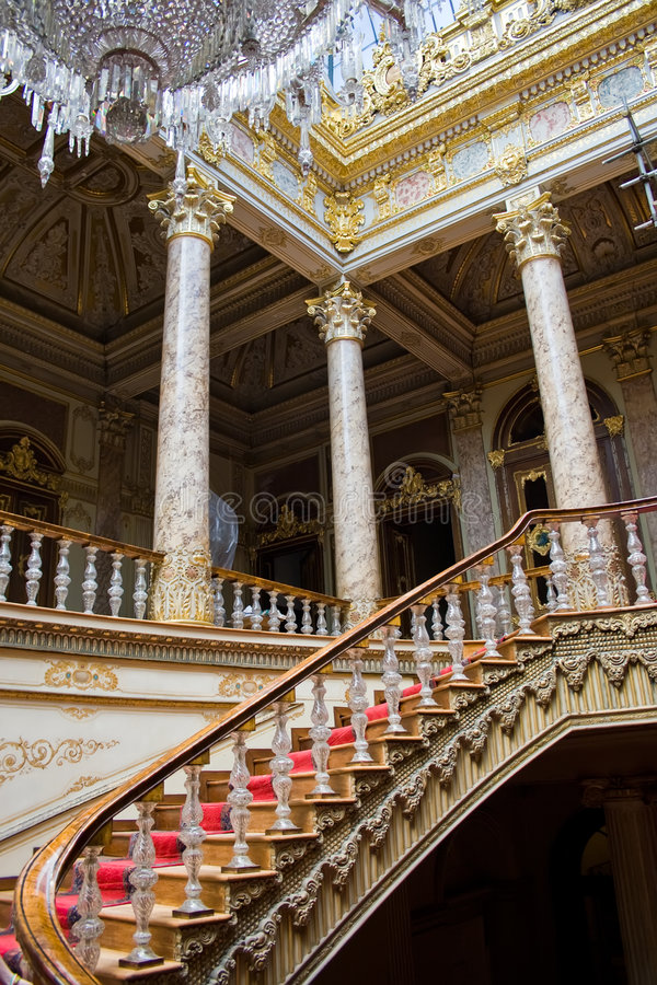 Palazzo di Dolmabahce fotografie stock libere da diritti