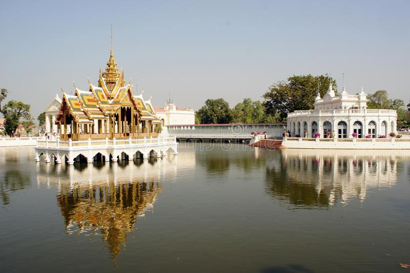 Palazzo di dolore di colpo a Ayutthaya, Tailandia immagine stock