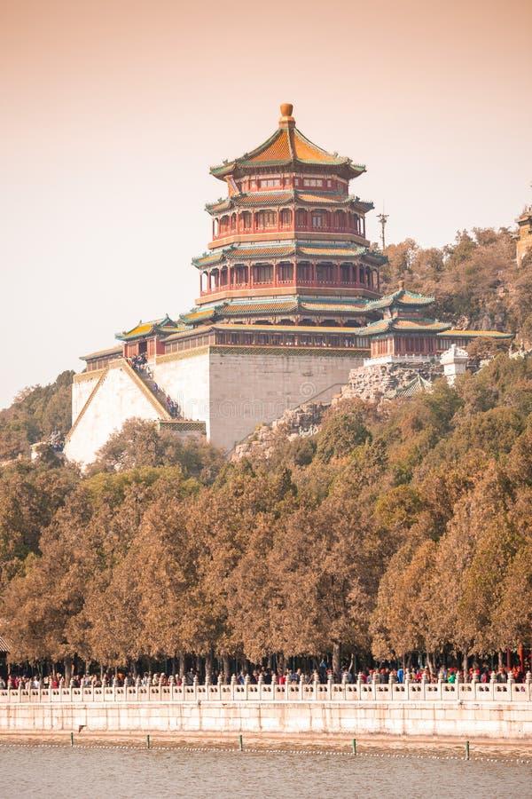 Palazzo di estate Yiheyuan in cinese fotografie stock libere da diritti
