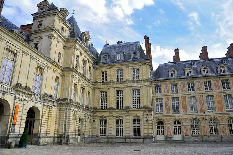 Palazzo di Fontainebleau. fotografia stock libera da diritti