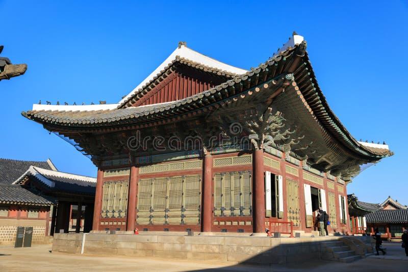 Palazzo di Geyongbokgung fotografie stock