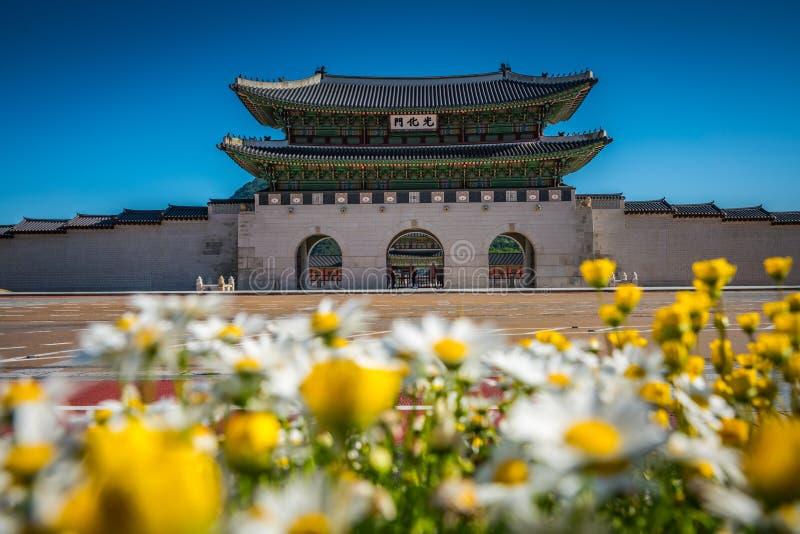 Palazzo di Gyeongbokgung a Seoul, Corea del Sud immagine stock