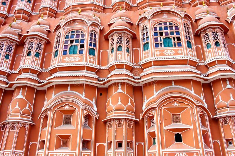 Palazzo di Hawa Mahal a Jaipur, Ragiastan fotografia stock