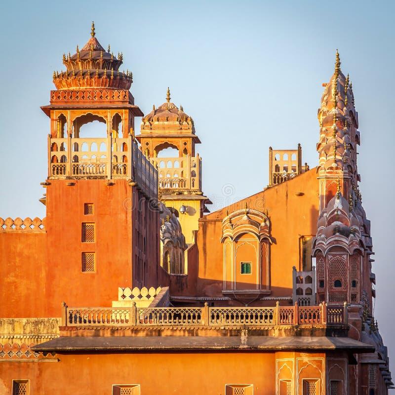 Palazzo di Hawa Mahal, Jaipur, Ragiastan immagine stock libera da diritti