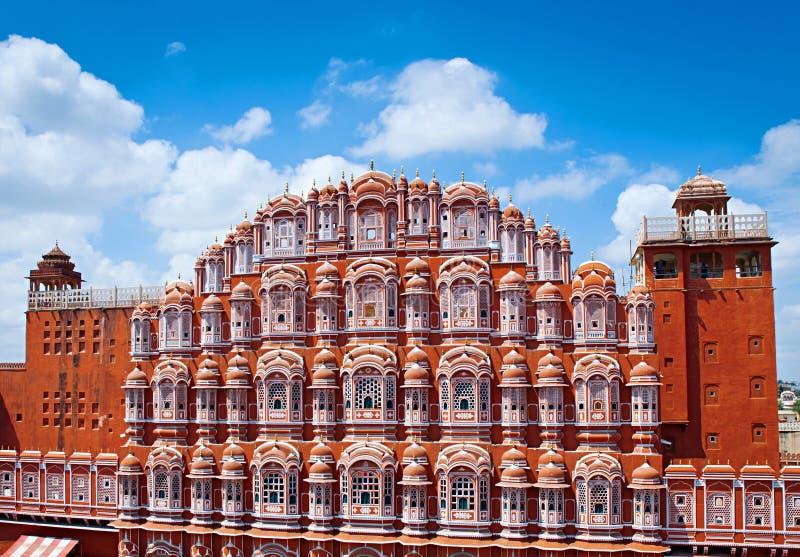 Palazzo di Hawa Mahal (palazzo dei venti), Jaipur, Ragiastan fotografie stock libere da diritti
