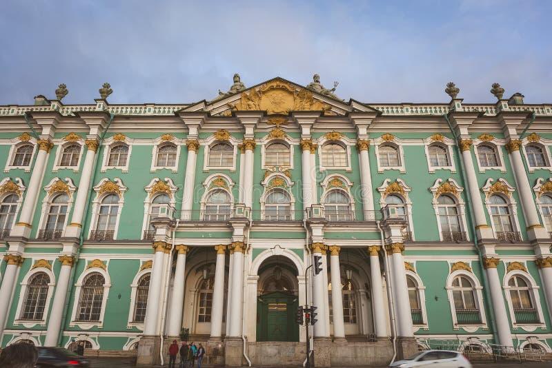 Palazzo di inverno, Museo dell'Ermitage, San Pietroburgo, Russia fotografia stock libera da diritti