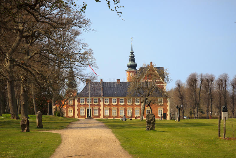 Palazzo di Jaegerspris, Frederikssund, Danimarca immagini stock libere da diritti