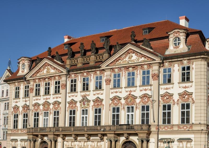 Palazzo di Kinsky, quadrato di Città Vecchia, Praga, repubblica Ceca fotografia stock