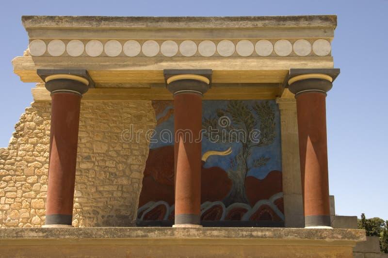 Palazzo di Knossos immagini stock libere da diritti