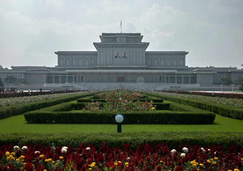 Palazzo di Kumsusan del mausoleo di Sun a Pyongyang, Corea del Nord immagine stock libera da diritti