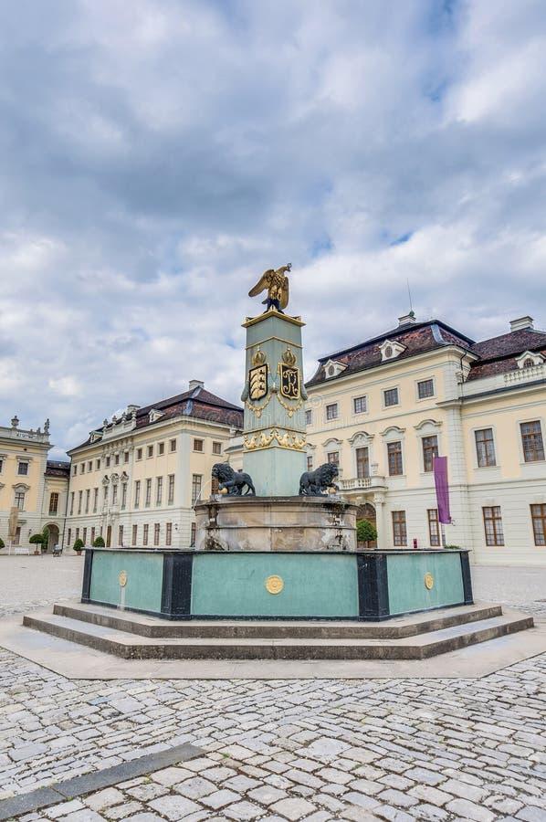 Palazzo di Ludwigsburg in Germania fotografie stock libere da diritti