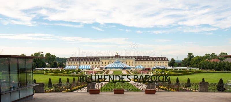 Palazzo di Ludwigsburg (Schloss Ludwigsburg) in Baden Wuerttemberg, Germania fotografia stock libera da diritti
