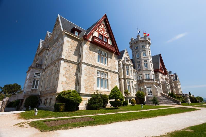 Palazzo di Magdalena a Santander, Cantabria fotografie stock