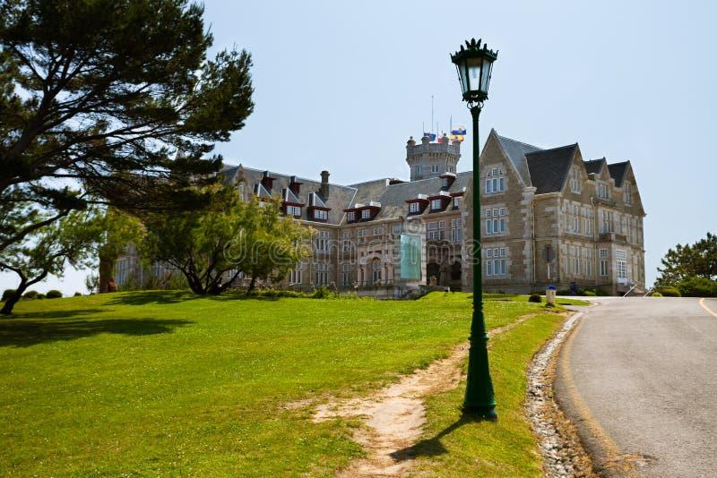 Palazzo di Magdalena a Santander, Cantabria fotografia stock libera da diritti