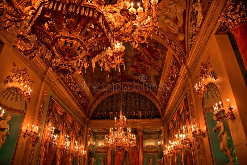 Palazzo di Medici all'interno della stanza di sfera Firenze Italia immagini stock libere da diritti
