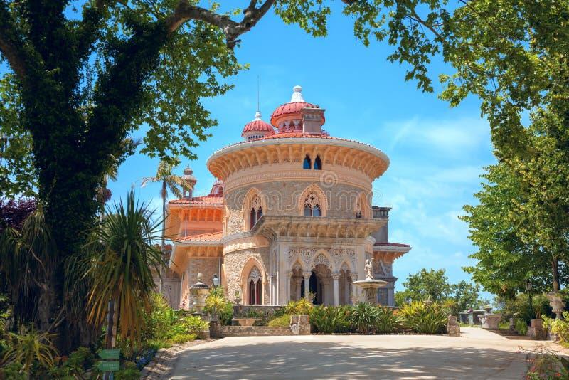 Palazzo di Monserrate nel villaggio di Sintra, Lisbona, Portogallo fotografie stock libere da diritti