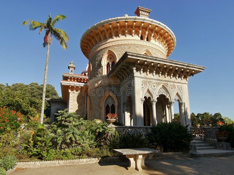 Palazzo di Monserrate nel villaggio di Sintra, Lisbona, Portogallo fotografia stock
