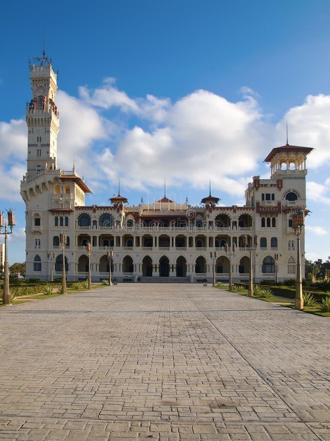 Palazzo di Montaza in Alessandria d'Egitto immagini stock
