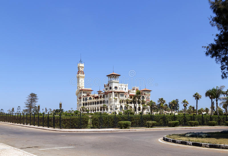 Palazzo di Montaza a Alessandria, Egitto immagine stock