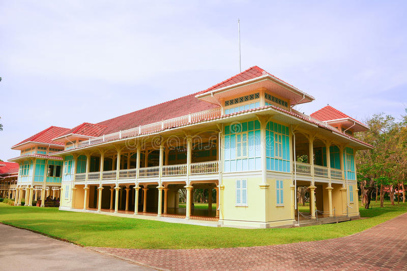 Palazzo di Mrigadayavan in ChaAm Tailandia fotografia stock libera da diritti