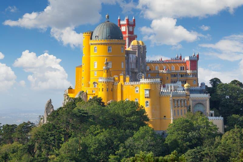 Palazzo di Nacional di Pena - Lisbona, Portogallo immagini stock libere da diritti