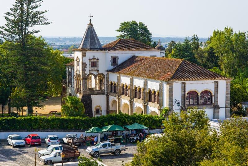 Palazzo di Palacio de Dom Manuel Evora, Portogallo immagini stock