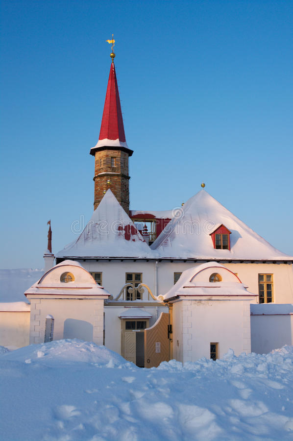 Palazzo di Priorat in Gatchina fotografia stock libera da diritti
