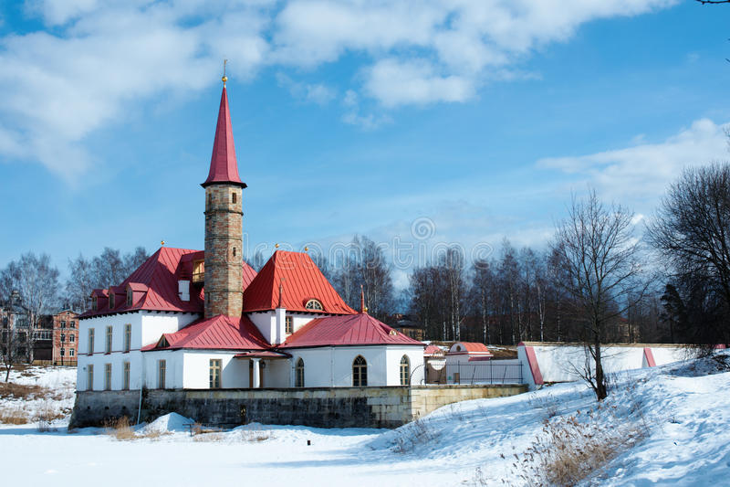 Palazzo di Priorat in Gatchina immagini stock