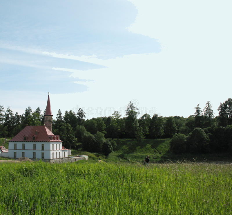 Palazzo di Prioratsky in Gatchina fotografie stock libere da diritti