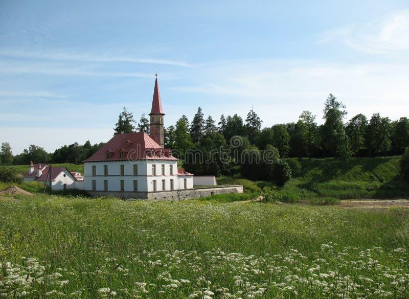 Palazzo di Prioratsky in Gatchina immagine stock libera da diritti