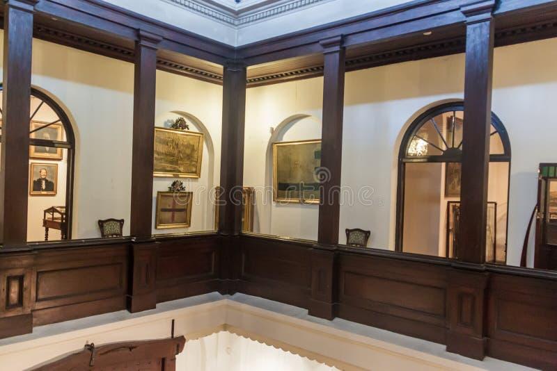 Palazzo di Rivera della casa a Montevideo immagine stock libera da diritti