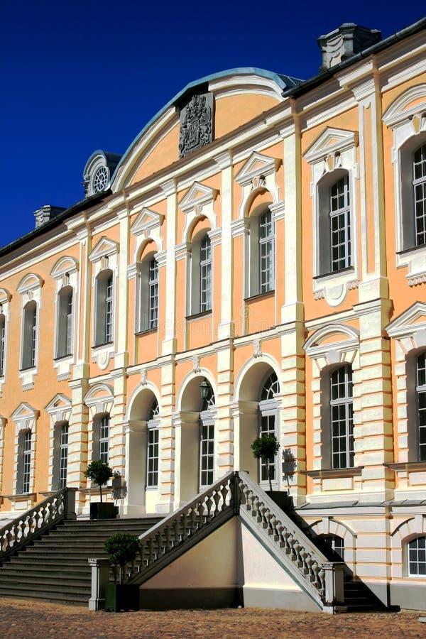 Palazzo di Rundale nel Latvia immagine stock