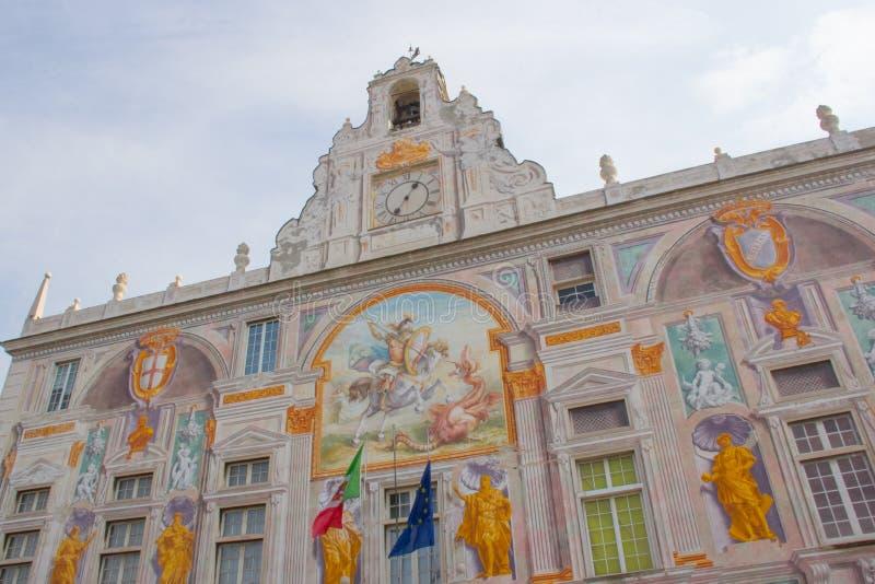 Palazzo di San Giorgio a Genova fotografie stock