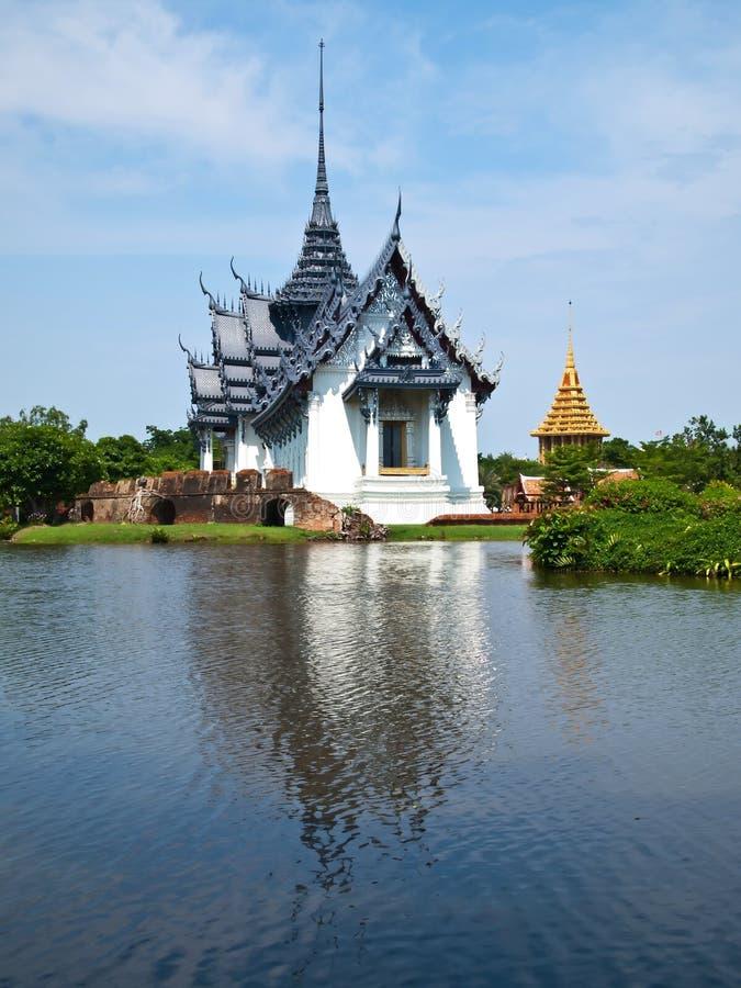 Palazzo di Sanphet Prasat alla città antica del Siam immagine stock