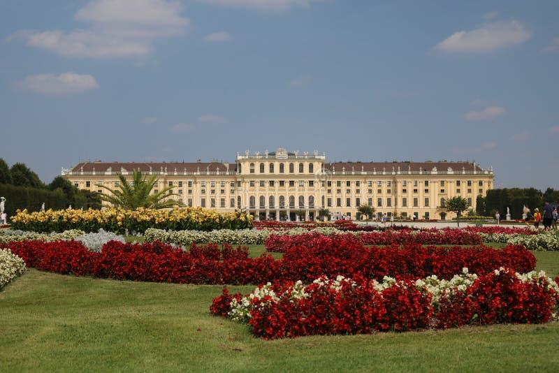 Palazzo di Schönbrunn a Vienna, Austria immagine stock libera da diritti