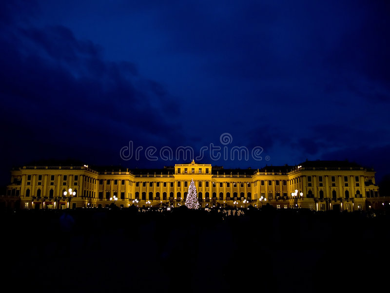 Palazzo di Schonbrun a Vienna fotografie stock