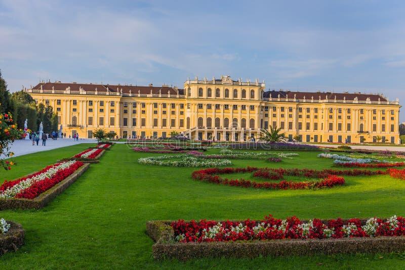 Palazzo di Schonbrunn a Vienna fotografia stock