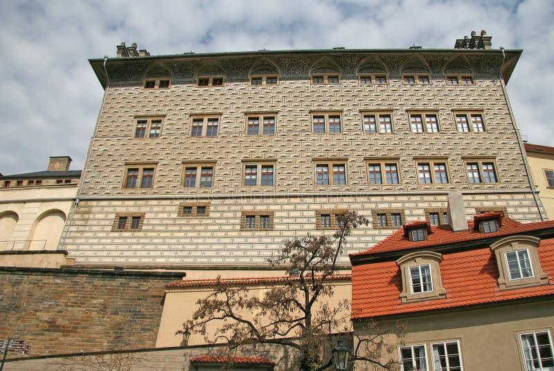 Palazzo di Schwarzenberg vicino al castello di Praga Praga, repubblica Ceca fotografia stock libera da diritti