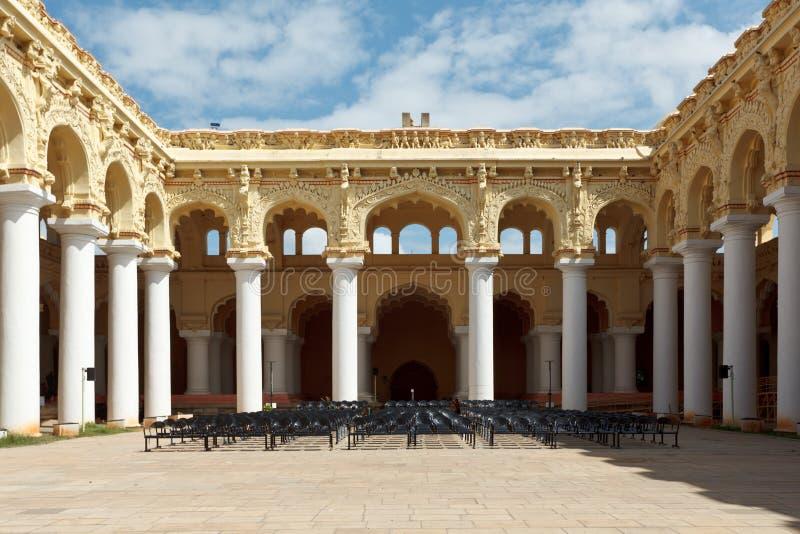 Palazzo di Tirumalai Nayak. Madura Tamil Nadu, India fotografia stock libera da diritti