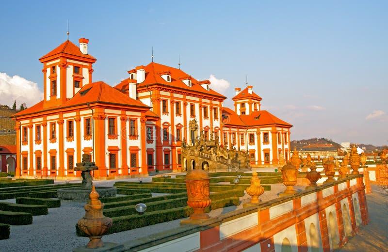Palazzo di Troja a Praga fotografia stock