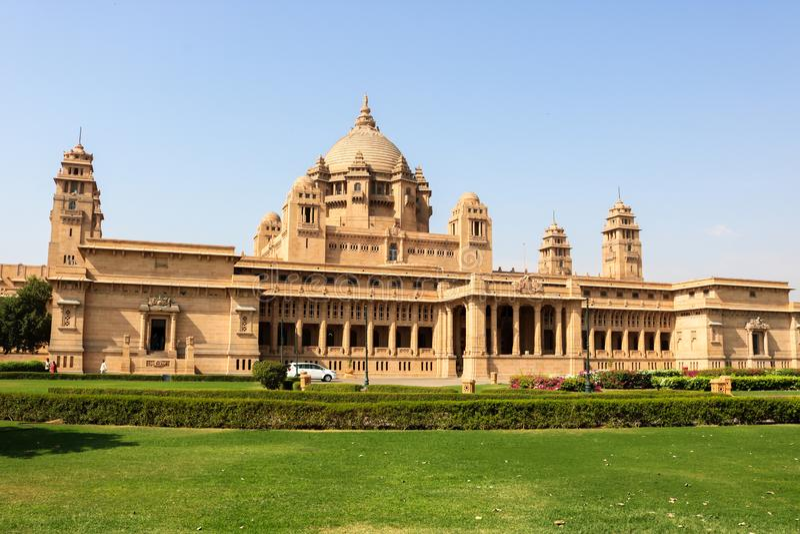 Palazzo di Umaid Bhawan, situato a Jodhpur nel Ragiastan fotografia stock