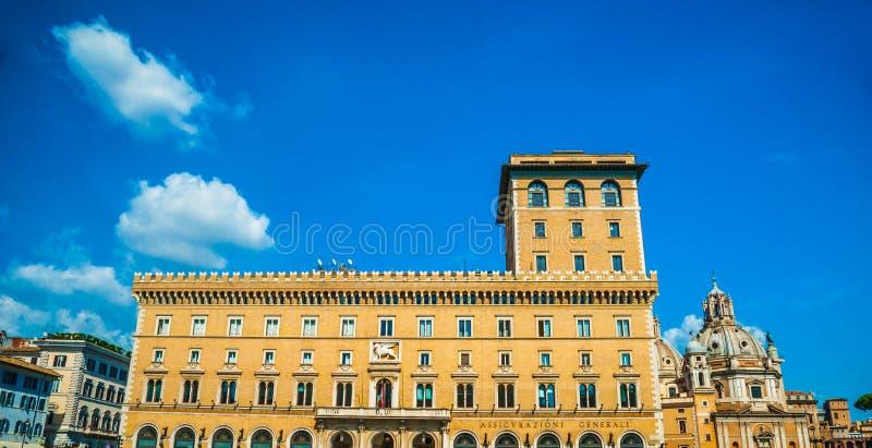 Palazzo Di Venezia, Rome stock afbeeldingen