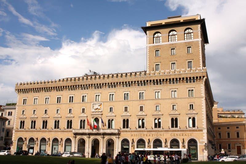Palazzo Di Venezia Rome Italië stock afbeeldingen